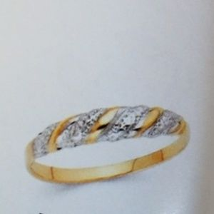 Jewelry - 14k Yellow White Gold Wedding Band